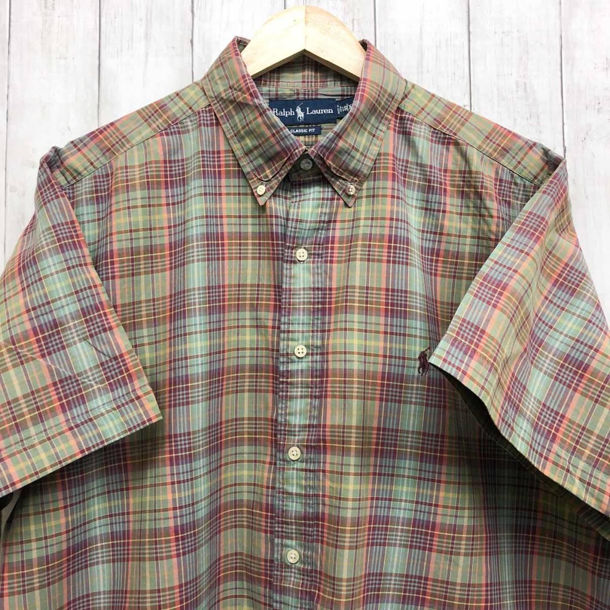 ラルフローレン POLO Ralph Lauren Polo 半袖シャツ メンズ ワンポイント XXLサイズ(2XLサイズ) 7-180_画像1