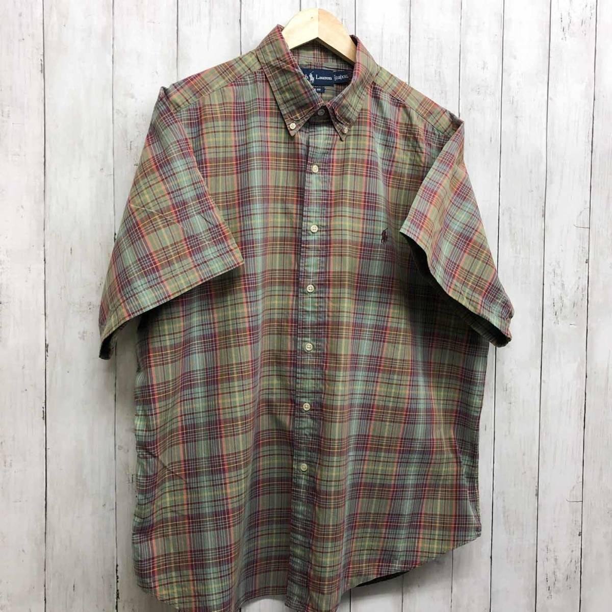 ラルフローレン POLO Ralph Lauren Polo 半袖シャツ メンズ ワンポイント XXLサイズ(2XLサイズ) 7-180_画像3