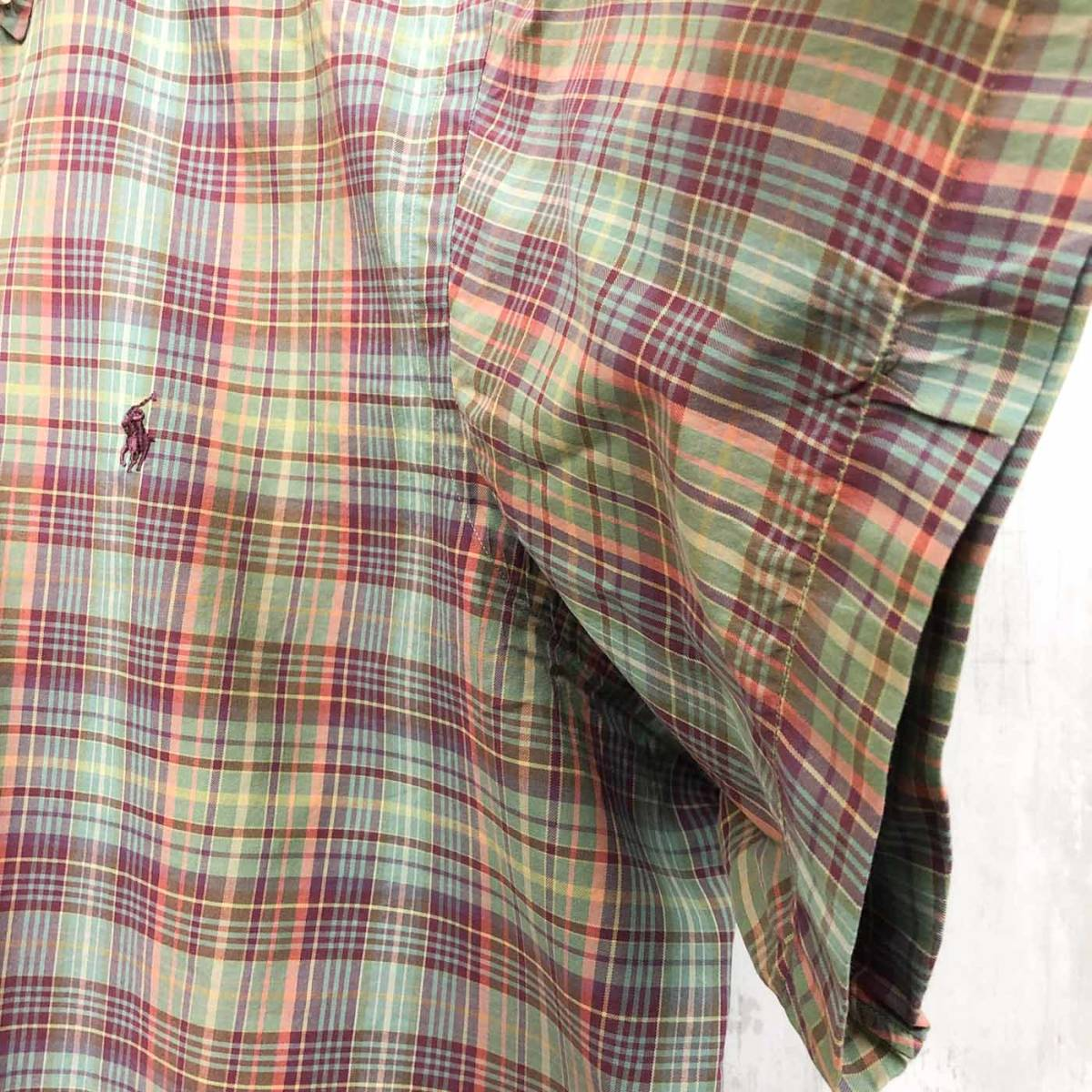 ラルフローレン POLO Ralph Lauren Polo 半袖シャツ メンズ ワンポイント XXLサイズ(2XLサイズ) 7-180_画像7