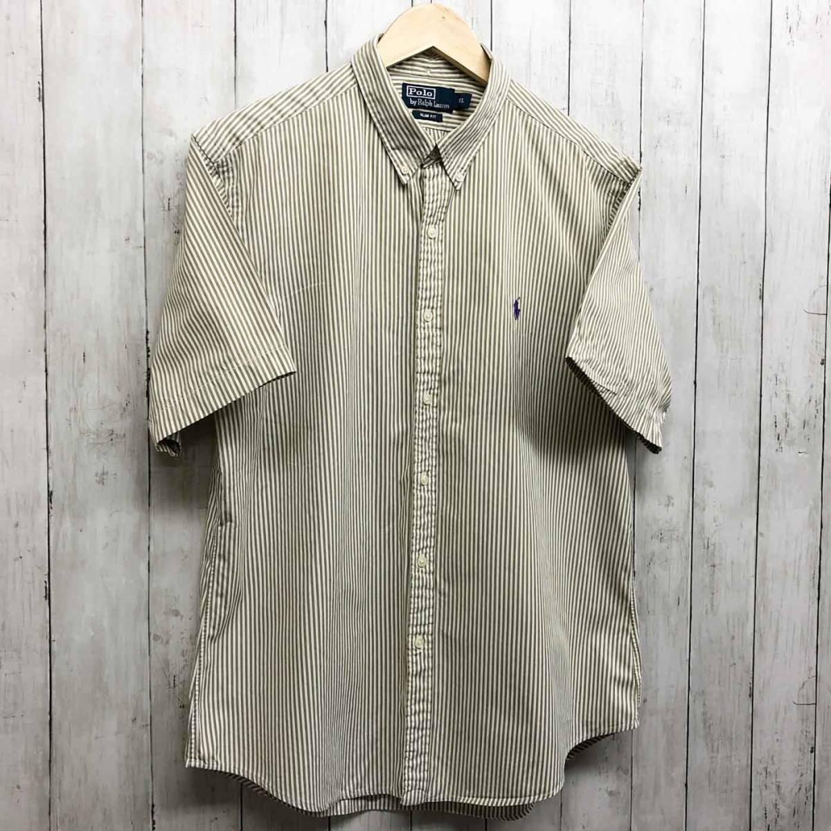 ラルフローレン POLO Ralph Lauren Polo 半袖シャツ メンズ ワンポイント XLサイズ 7-184_画像3