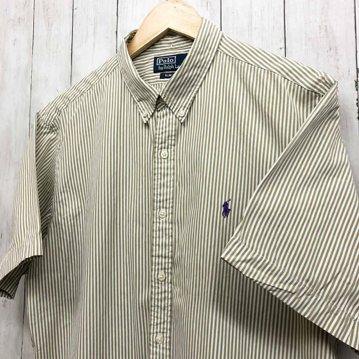 ラルフローレン POLO Ralph Lauren Polo 半袖シャツ メンズ ワンポイント XLサイズ 7-184_画像2