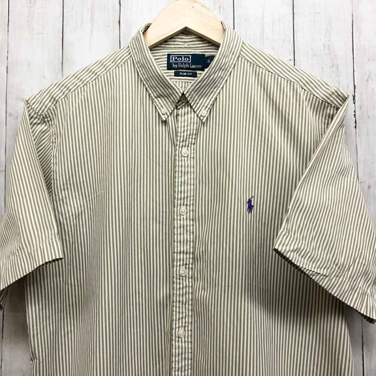 ラルフローレン POLO Ralph Lauren Polo 半袖シャツ メンズ ワンポイント XLサイズ 7-184_画像1