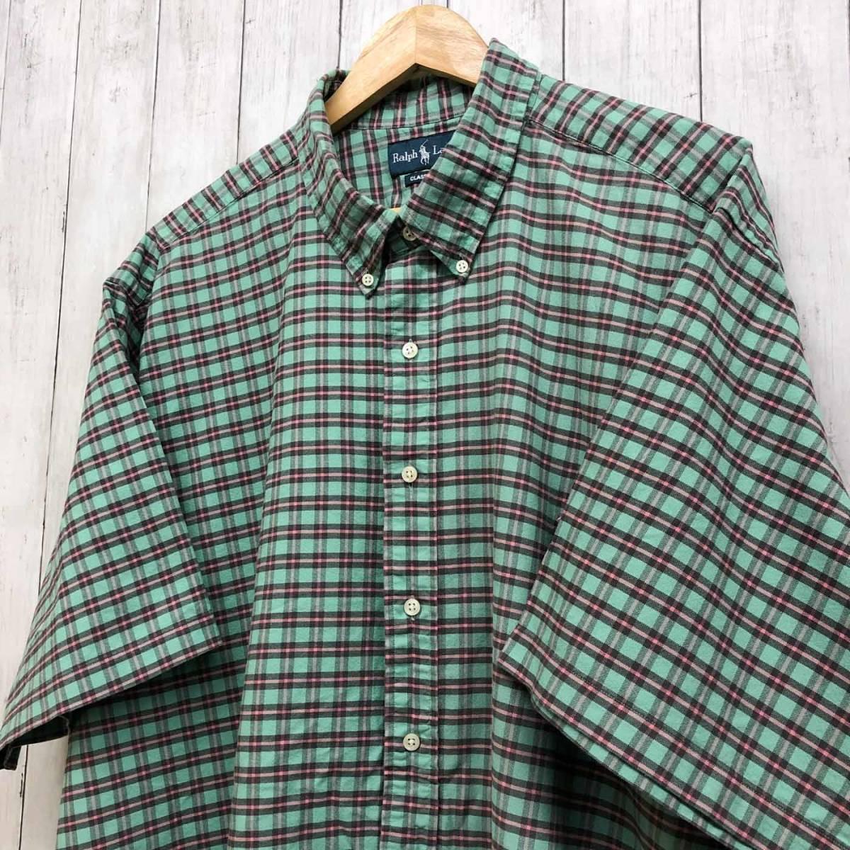 ラルフローレン POLO Ralph Lauren Polo 半袖シャツ メンズ ワンポイント 3XLサイズ 7-185_画像2