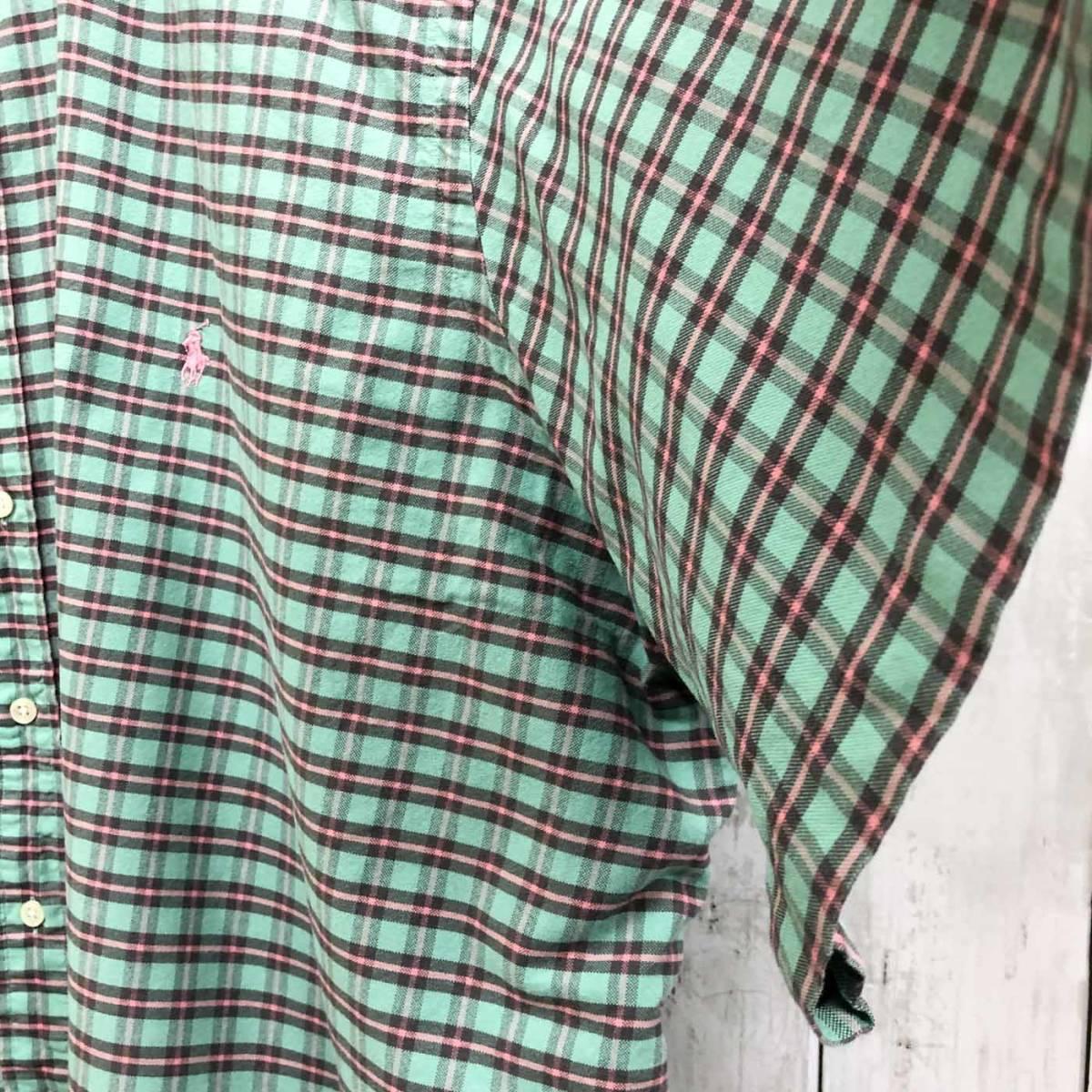 ラルフローレン POLO Ralph Lauren Polo 半袖シャツ メンズ ワンポイント 3XLサイズ 7-185_画像7