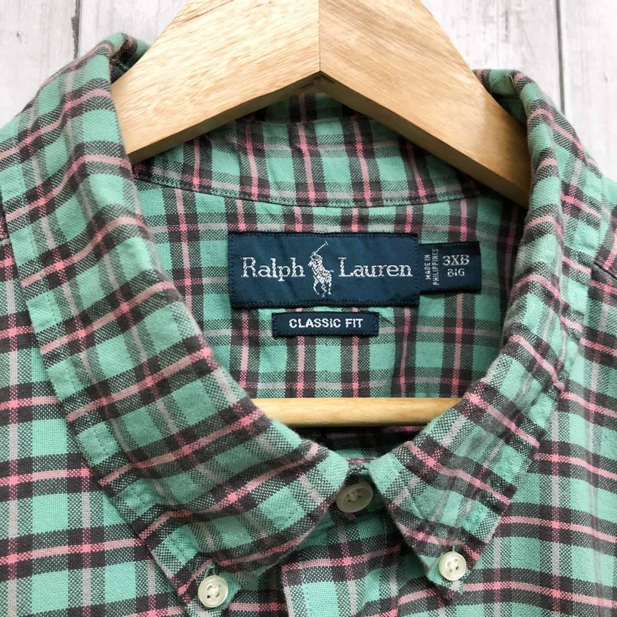 ラルフローレン POLO Ralph Lauren Polo 半袖シャツ メンズ ワンポイント 3XLサイズ 7-185_画像5
