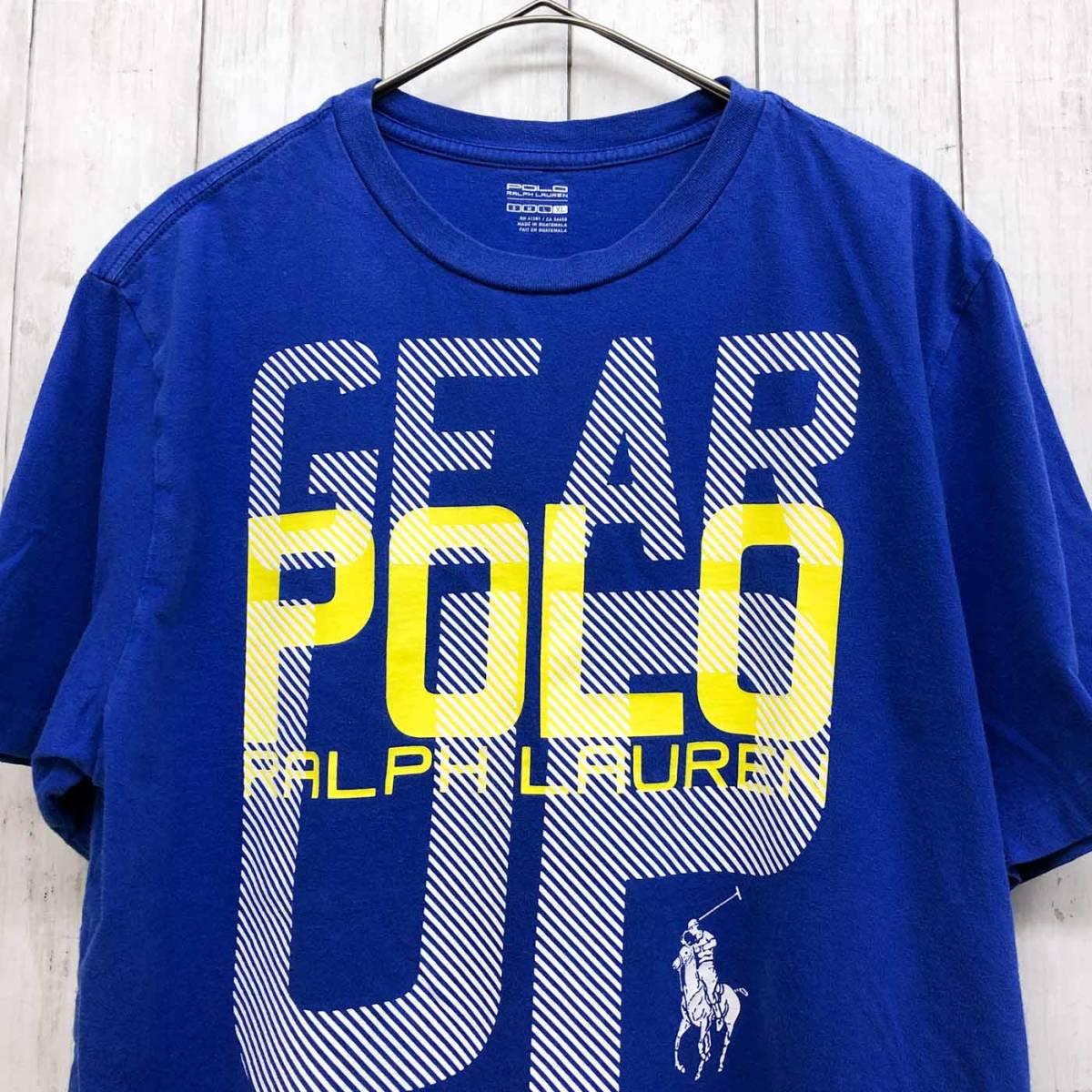 ラルフローレン POLO Ralph Lauren Polo 半袖Tシャツ メンズ ワンポイント XLサイズ 9-87_画像1