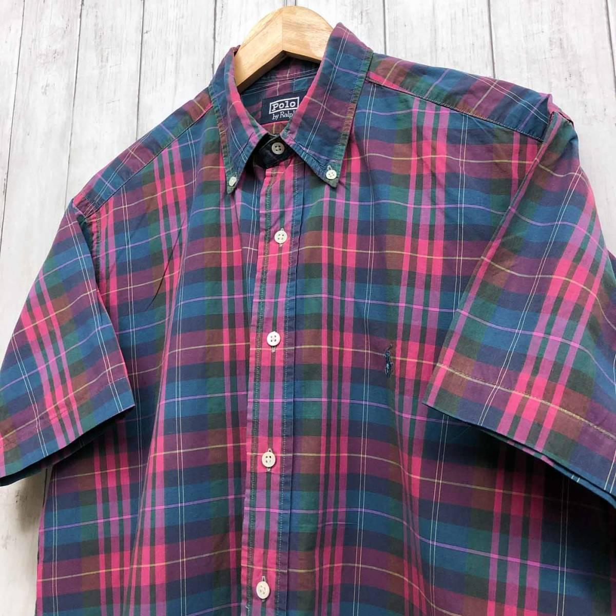 ラルフローレン POLO Ralph Lauren Polo 半袖シャツ メンズ ワンポイント Lサイズ 7-192_画像2