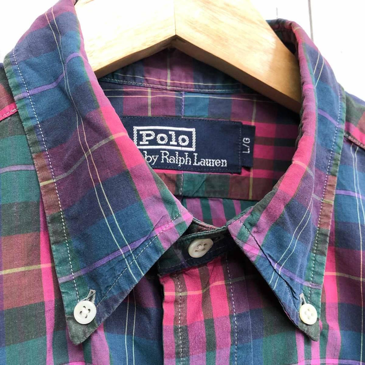 ラルフローレン POLO Ralph Lauren Polo 半袖シャツ メンズ ワンポイント Lサイズ 7-192_画像5