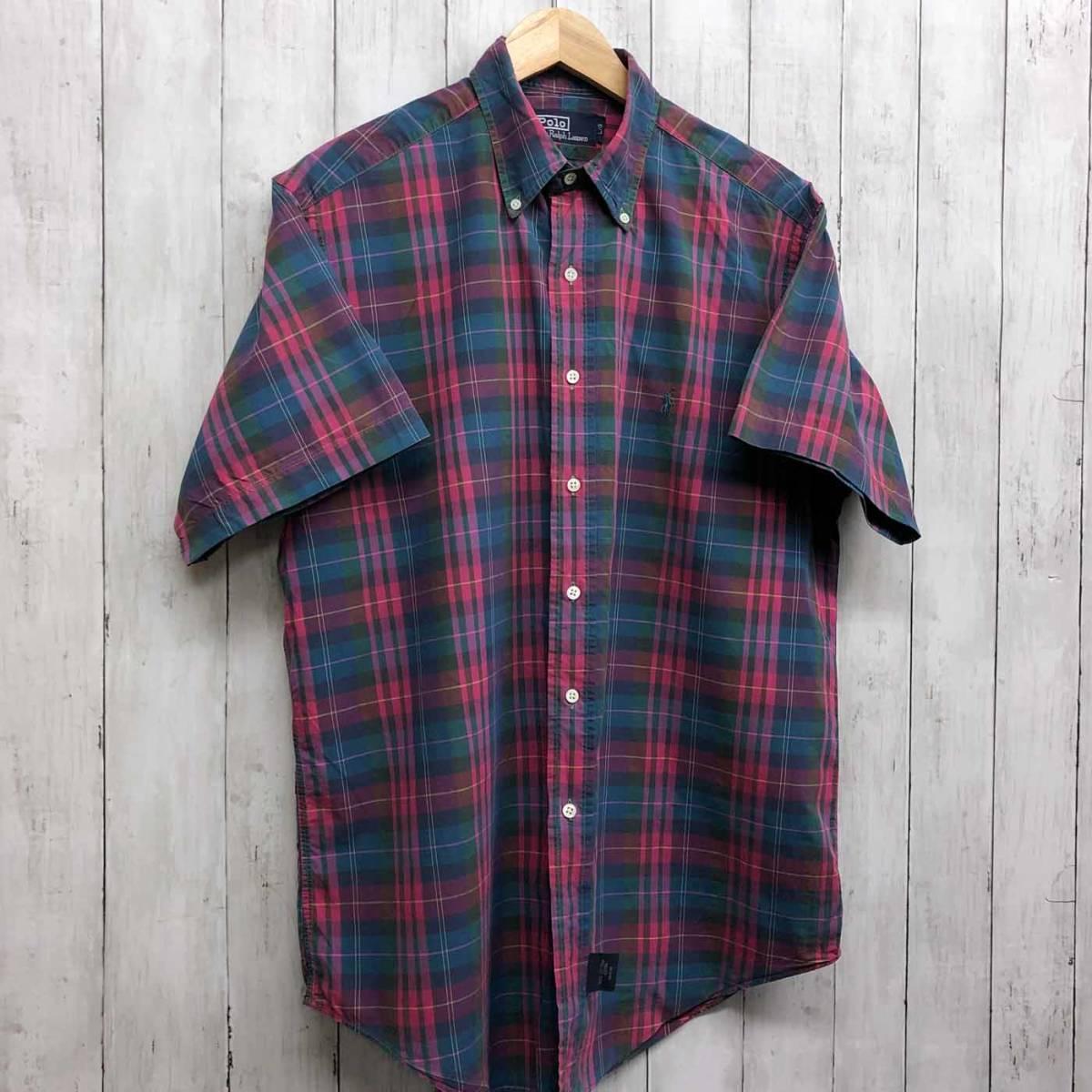 ラルフローレン POLO Ralph Lauren Polo 半袖シャツ メンズ ワンポイント Lサイズ 7-192_画像3