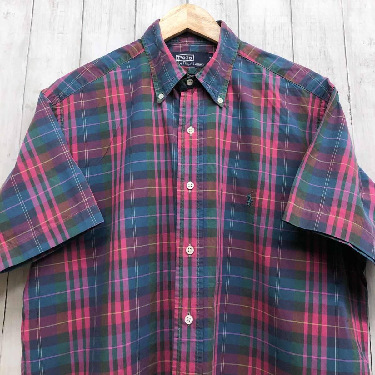 ラルフローレン POLO Ralph Lauren Polo 半袖シャツ メンズ ワンポイント Lサイズ 7-192_画像1