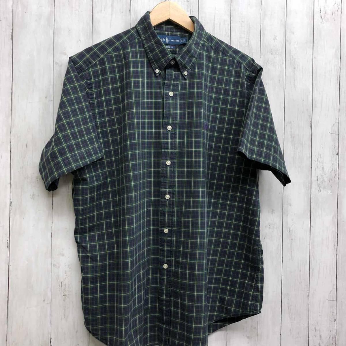 ラルフローレン POLO Ralph Lauren Polo 半袖シャツ メンズ ワンポイント XLサイズ 7-193_画像3