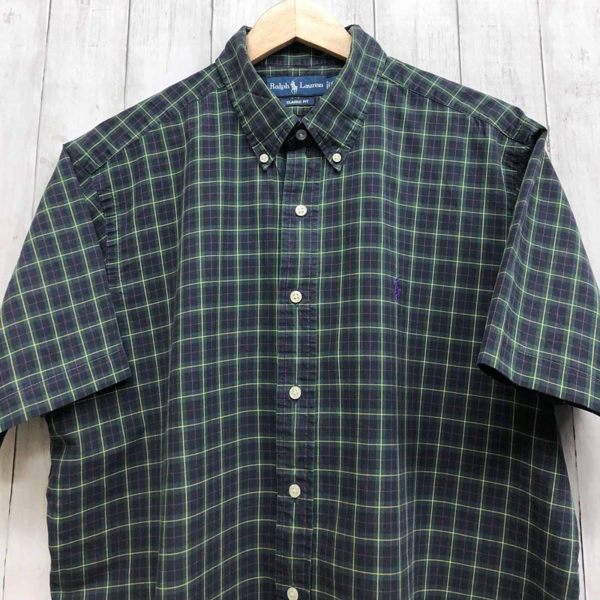 ラルフローレン POLO Ralph Lauren Polo 半袖シャツ メンズ ワンポイント XLサイズ 7-193_画像1