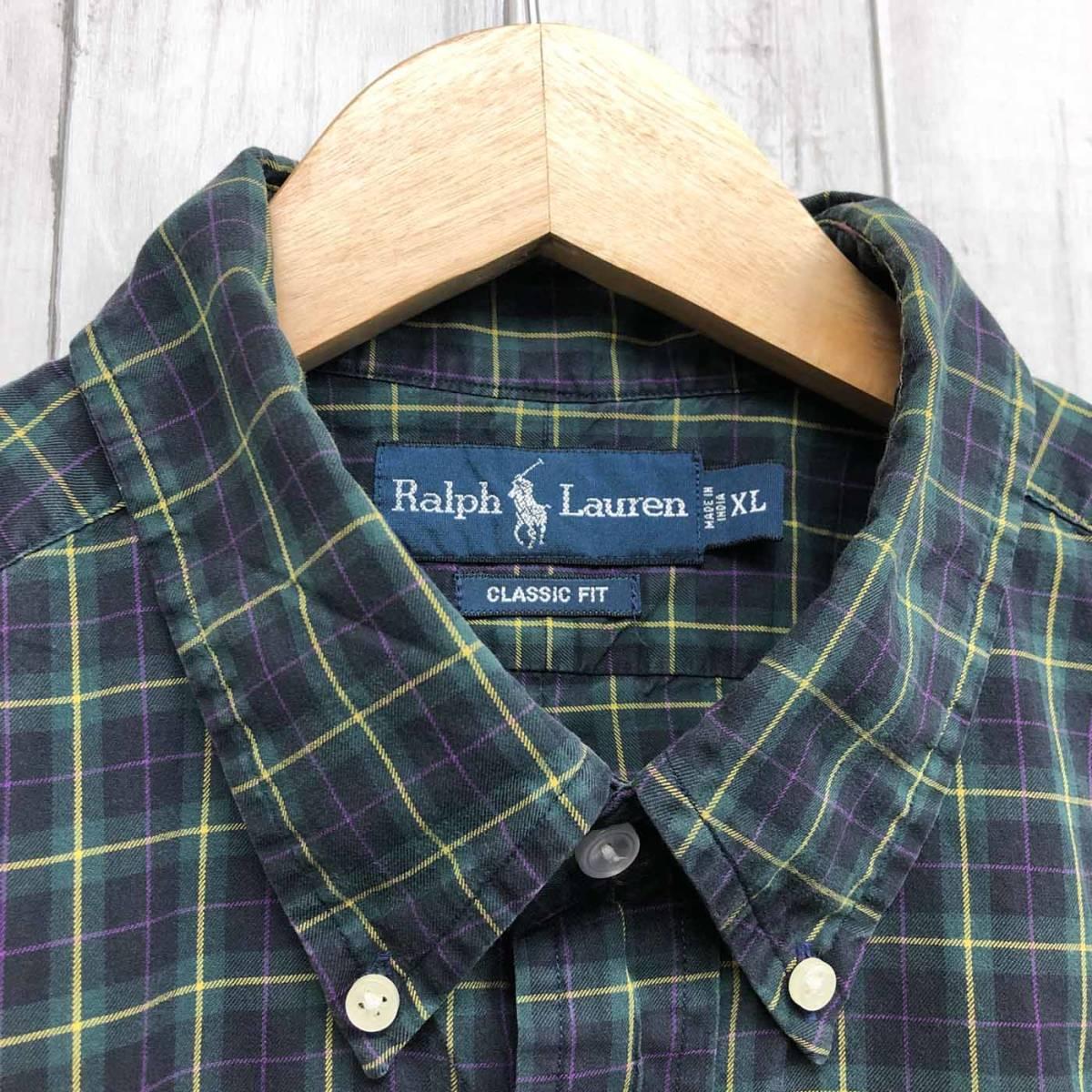 ラルフローレン POLO Ralph Lauren Polo 半袖シャツ メンズ ワンポイント XLサイズ 7-193_画像5