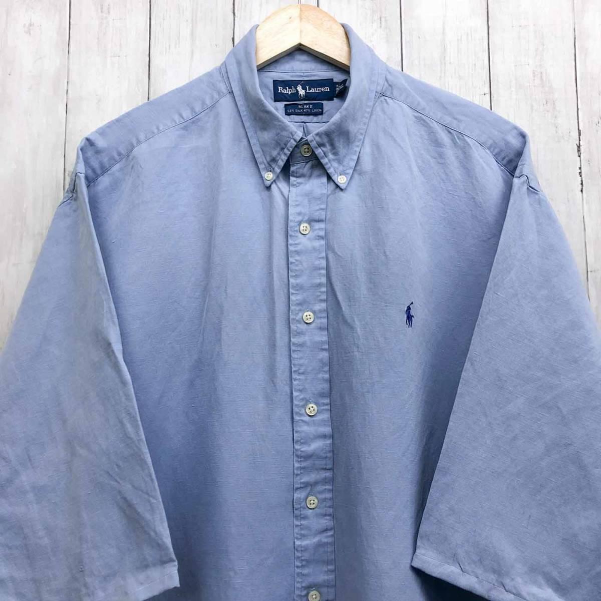 ラルフローレン POLO Ralph Lauren Polo 半袖シャツ 五分丈 メンズ ワンポイント XLサイズ 7-198_画像1