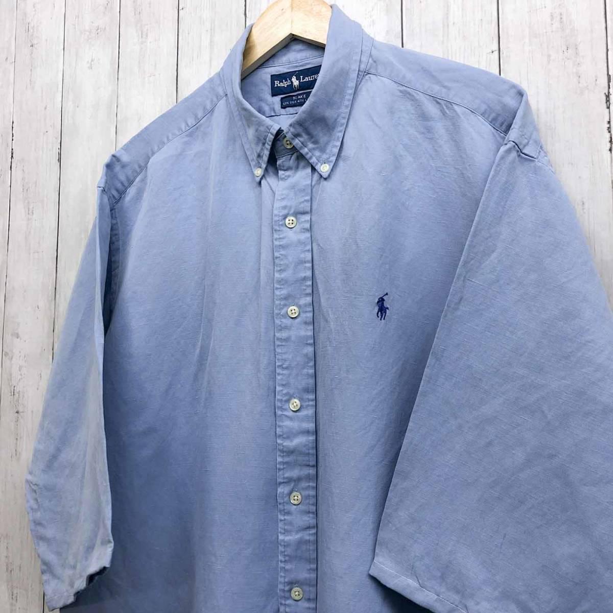 ラルフローレン POLO Ralph Lauren Polo 半袖シャツ 五分丈 メンズ ワンポイント XLサイズ 7-198_画像2