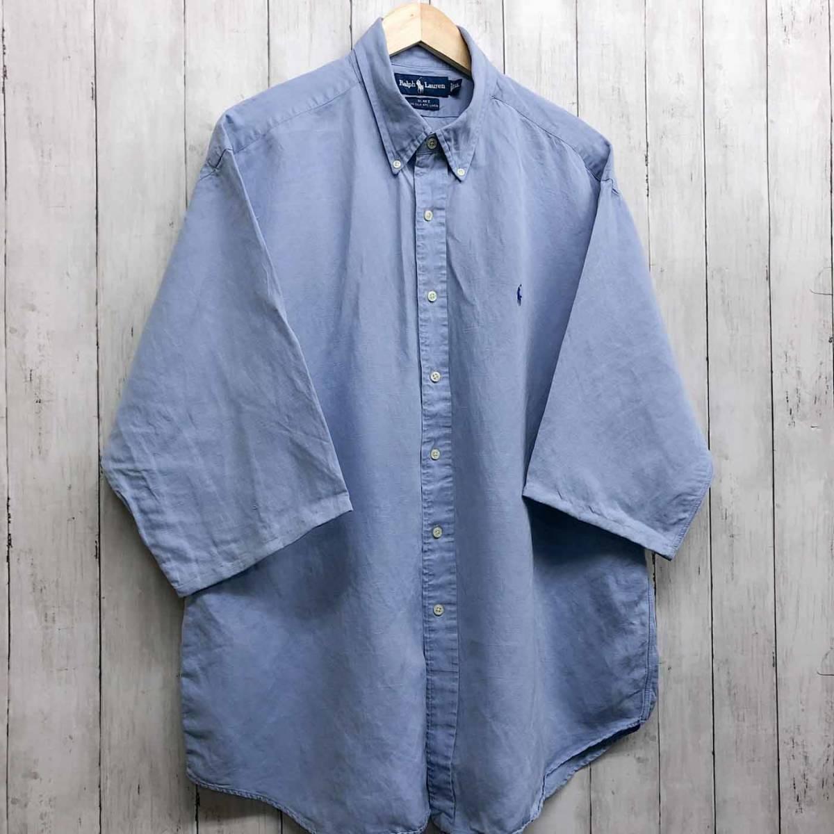 ラルフローレン POLO Ralph Lauren Polo 半袖シャツ 五分丈 メンズ ワンポイント XLサイズ 7-198_画像3