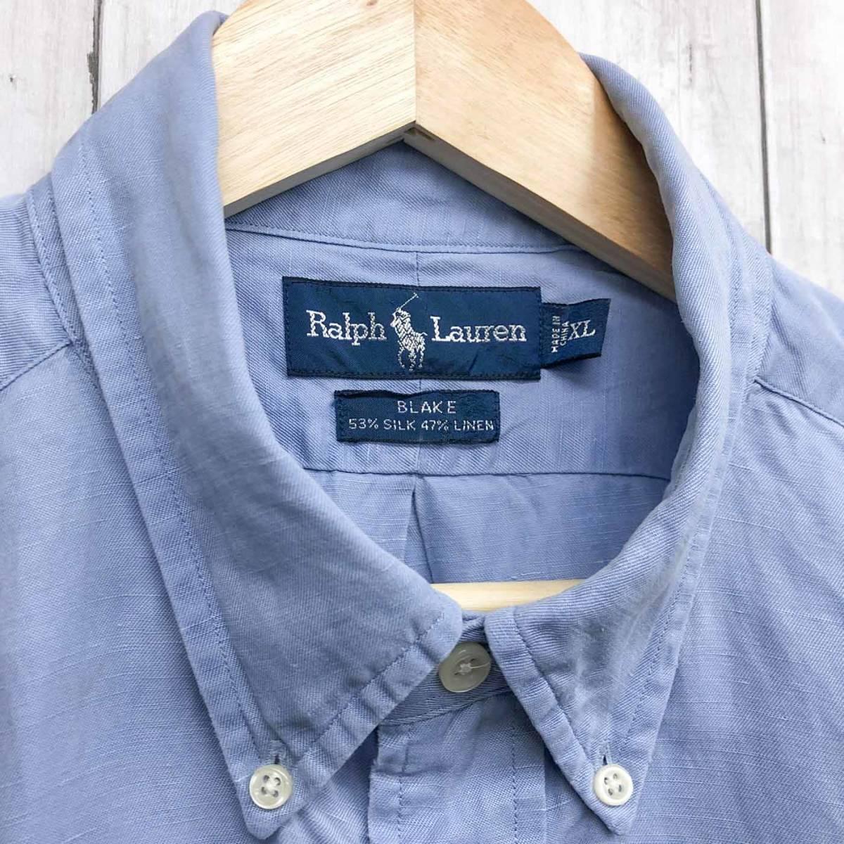 ラルフローレン POLO Ralph Lauren Polo 半袖シャツ 五分丈 メンズ ワンポイント XLサイズ 7-198_画像5