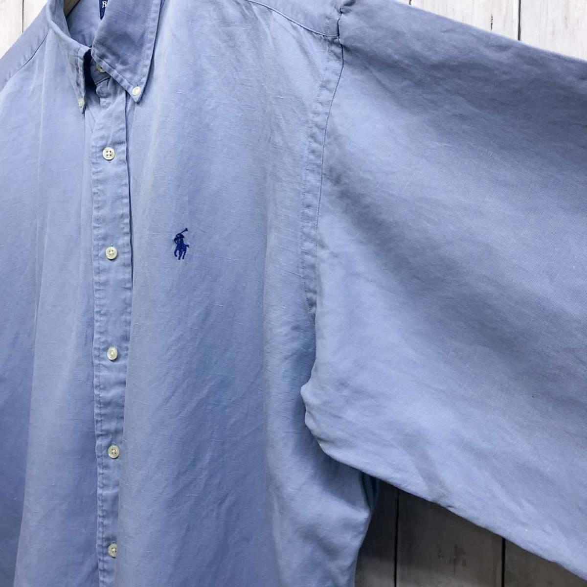 ラルフローレン POLO Ralph Lauren Polo 半袖シャツ 五分丈 メンズ ワンポイント XLサイズ 7-198_画像8