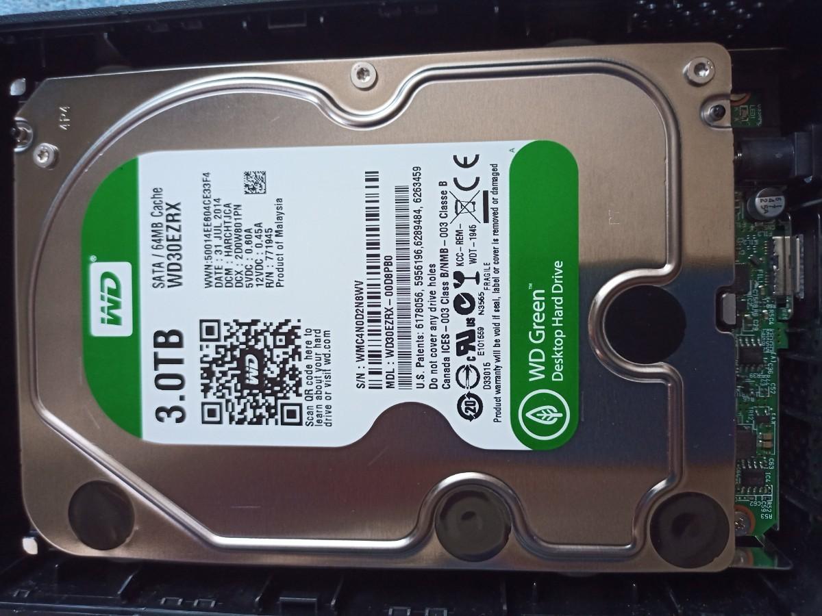 3.0TB BUFFALO HD-LC3.0U3-BKE USB3.0 HDD 外付ハードディスクHDD 3TB  外付けHDD