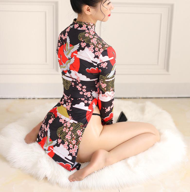 LGH648#超セクシー 美胸美脚美尻 チャイナドレス ワンピース コスプレ衣装 仮装 コスチューム ナイトクラブ キャバ嬢ドレス_画像4