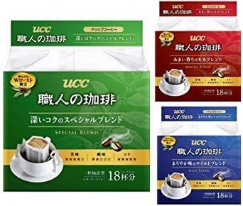 UCC 職人の珈琲 ドリップコーヒー 飲み比べアソートセット ×54袋 レギュラー(ドリップ)_画像1