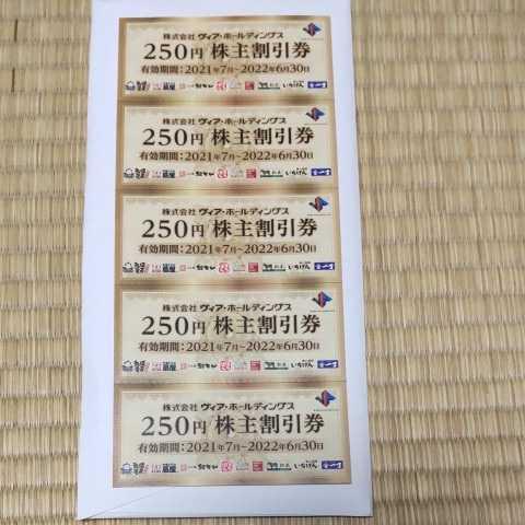ヴィア・ホールディングス 株主優待券 1250円分_画像1