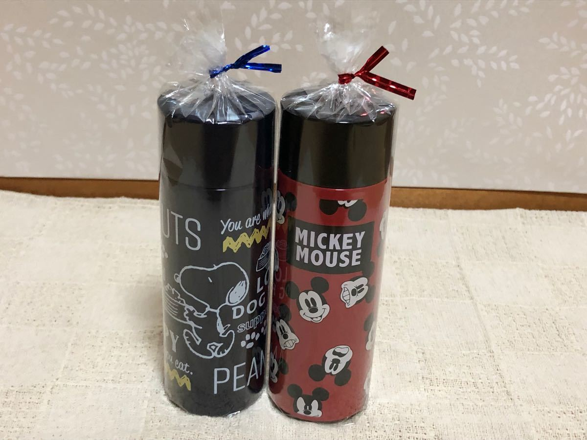 スケーター プチステンレスマグボトル 120ml スヌーピー、ミッキーマウス 2本セット 箱無し 最終価格