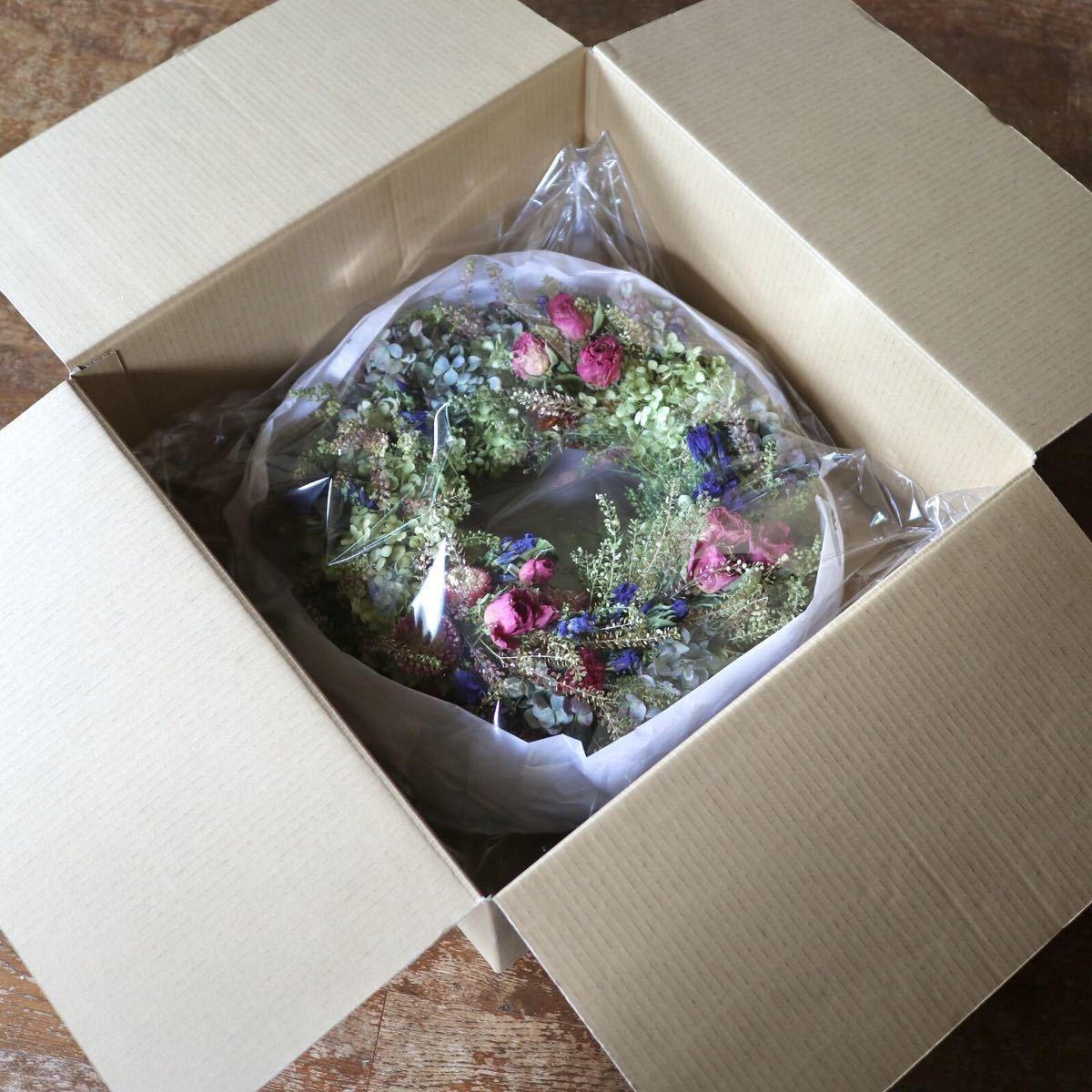 *kashun* L(38cm マメグンバイナズナとカラフルな小花のボリュームリース/ドライフラワー/プレゼント/新築祝い/開店祝い/誕生日プレゼント_画像8