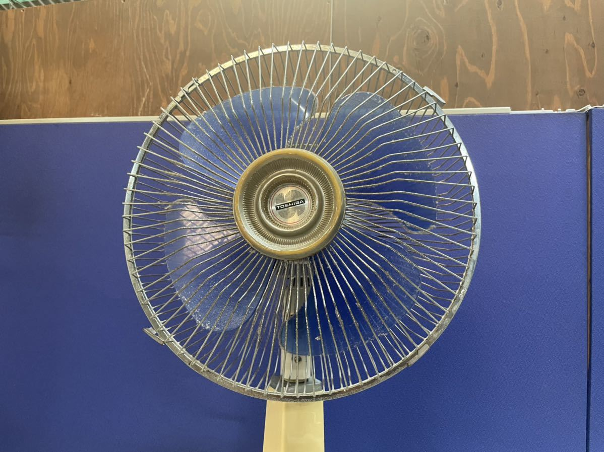 7388 昭和レトロ 東芝 TOSHIBA 扇風機 H-30AT 4枚羽 ビンテージ アンティーク 動作確認済_画像4