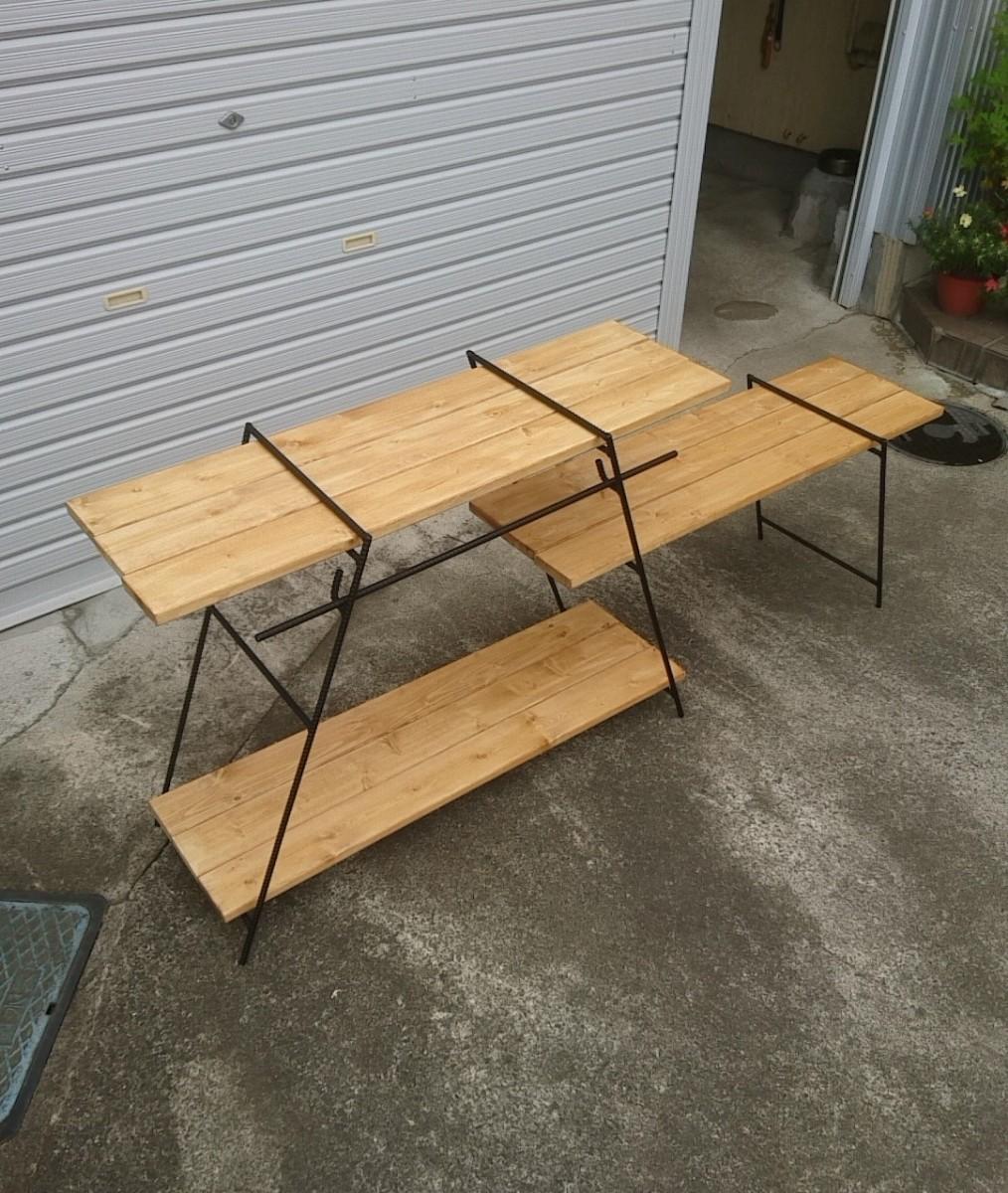 アイアンラック アイアンテーブル  キャンプ アウトドア 多肉植物 棚 テーブル  アイアンシェルフ