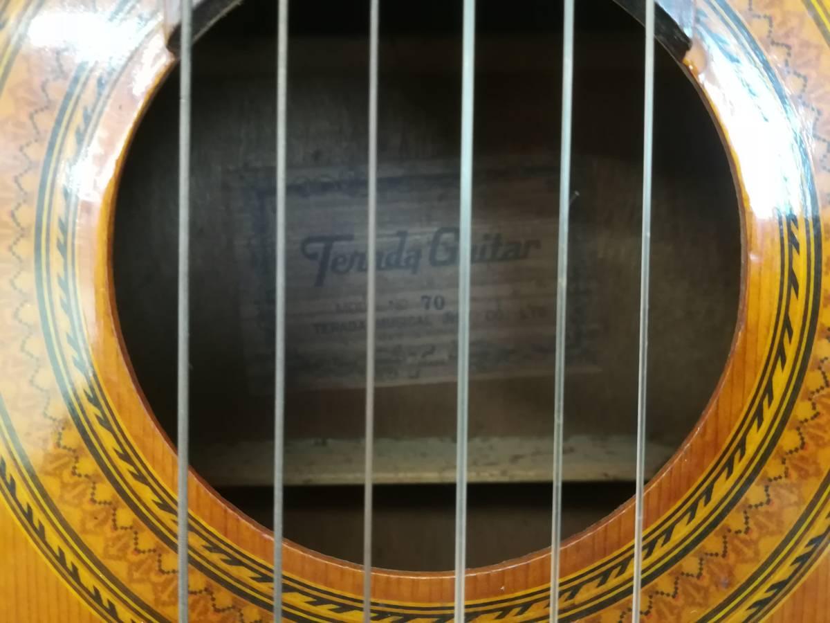【OH4】最終出品 テラダ楽器製 クラシックギター モデル70 ギター 弦楽器 楽器 器材 中古現状品_画像3