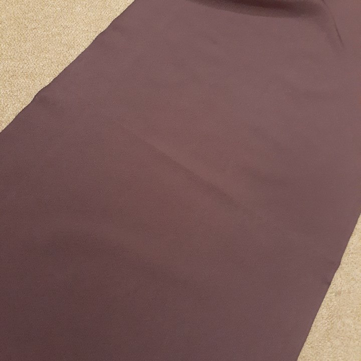 正絹 73004 あずき色 茶色 無地 シルク120cm はぎれ ハギレ リメイク ハンドメイド