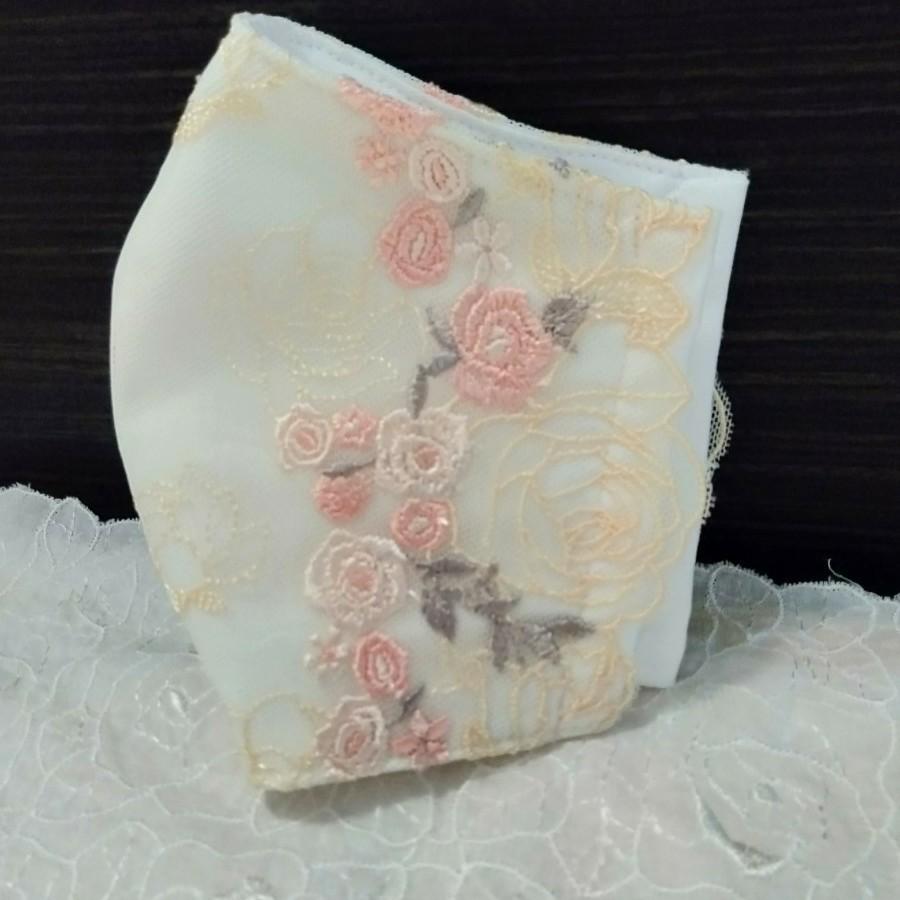 立体インナー 小薔薇刺繍チュールレース
