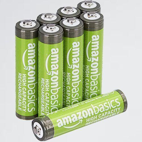 新品 未使用 充電池 ベ-シック 9-E0 (充電済み、最小容量 800mAh、約500回使用可能) 高容量充電式ニッケル水素電池単4形8個セット_画像1
