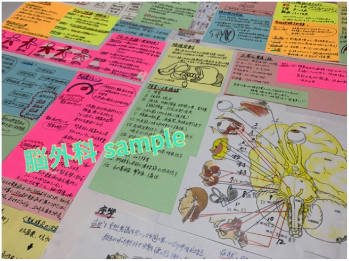 看護師国家試験対策 大量付箋 看護学生 付箋ノート 検査 レビューブック 応援資料!