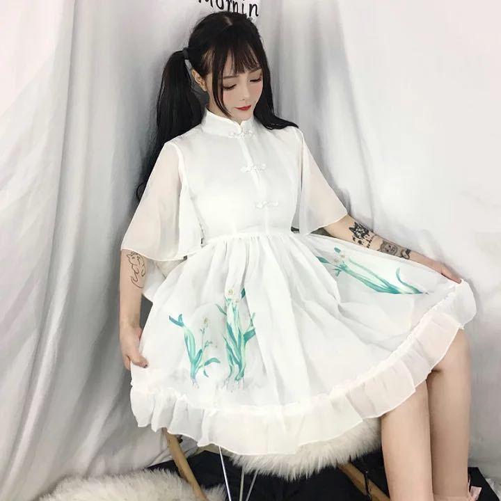 チャイナドレス 無地 コスプレ衣装 コスチューム チャイナ レディース 大人ロリータ 服 中華 女性用 可愛いコスプレ ハロウィンMTE470