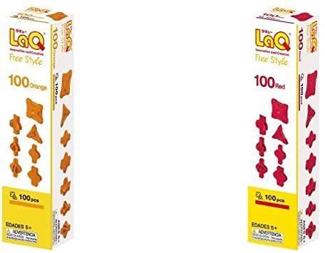 ラキュー (LaQ) フリースタイル(FreeStyle) 100オレンジ & (LaQ) フリースタイル(Free_画像1
