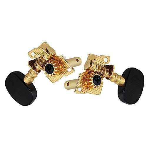新品 Yibuy Gold-plated 2R2Lチューニングペグマシーン・ヘッドチューナーForウクレレ4弦TO85_画像3