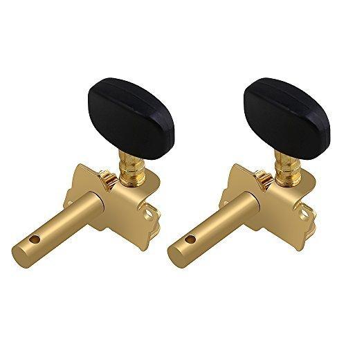 新品 Yibuy Gold-plated 2R2Lチューニングペグマシーン・ヘッドチューナーForウクレレ4弦TO85_画像2