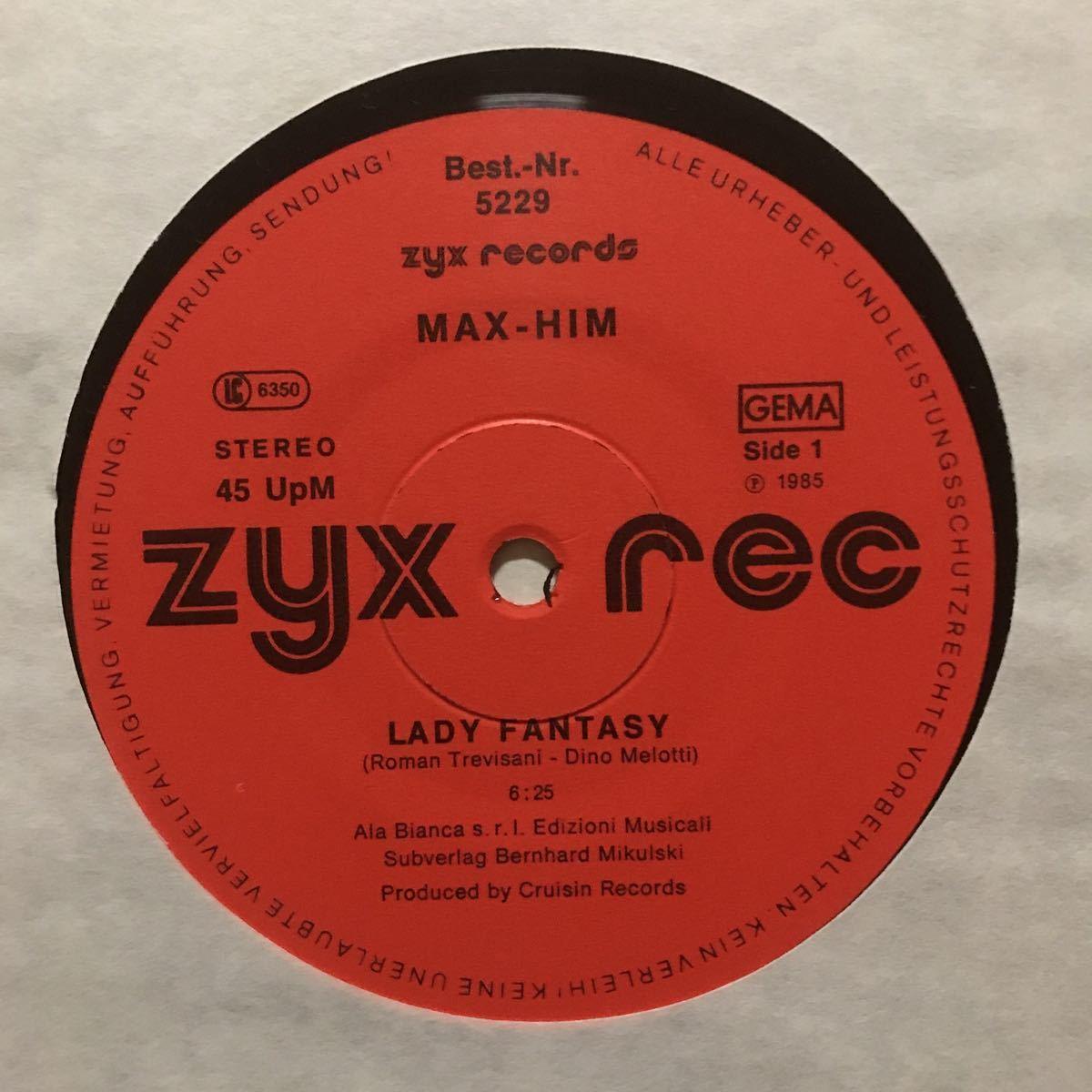 ●【r&b】Max-Him / Lady Fantasy[12inch]オリジナル盤《3-1-53 9595》