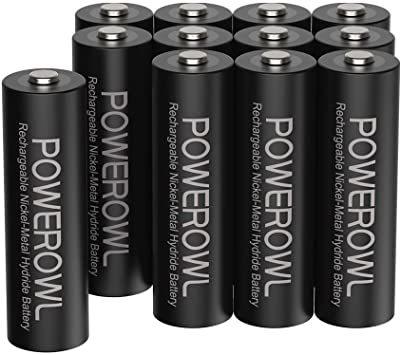 単3形12個パック 単3形充電池2800mAh Powerowl単3形充電式ニッケル水素電池12個パック 超大容量 _画像1