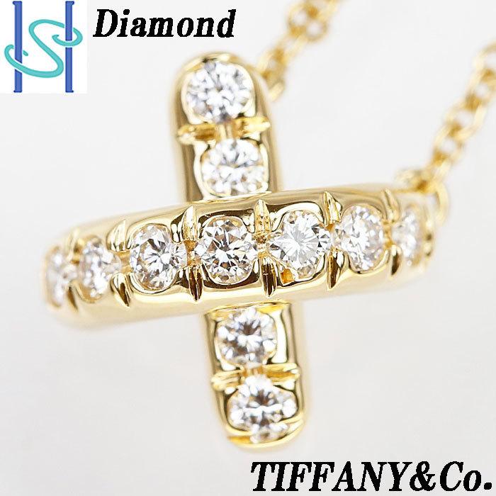 【SH59201】ティファニー ダイヤモンド ネックレス K18 イエローゴールド シグネチャー TIFFANY&Co.【中古】_画像1