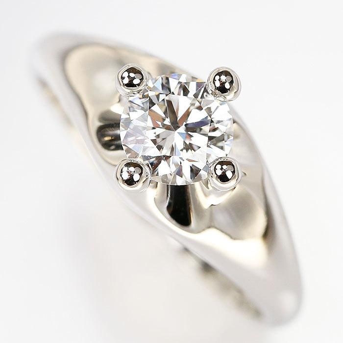 【SH59198】ブルガリ ダイヤモンド リング 0.553ct F VS1 G プラチナ Pt950 コロナ 一粒石 BVLGARI【中古】_画像4