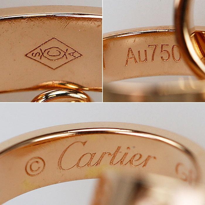 【SH59408】カルティエ K18 ピンクゴールド ネックレス ベビーラブ Cartier【中古】_画像4