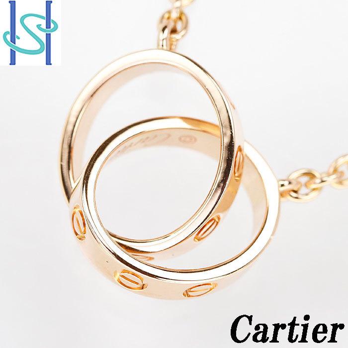 【SH59408】カルティエ K18 ピンクゴールド ネックレス ベビーラブ Cartier【中古】_画像1