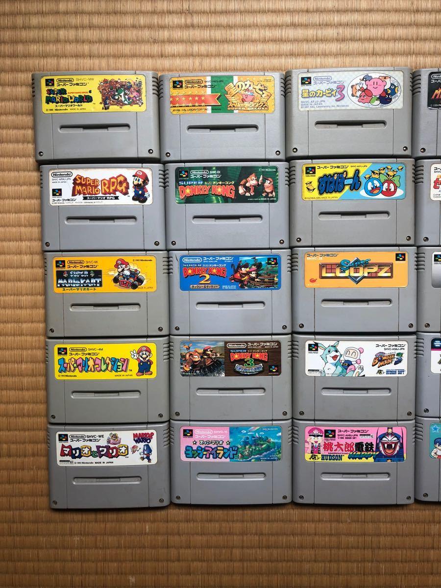 ジャンク  スーパーファミコンソフト 25本セット スーパーマリオ 星のカービィ セーラームーン メトロイド