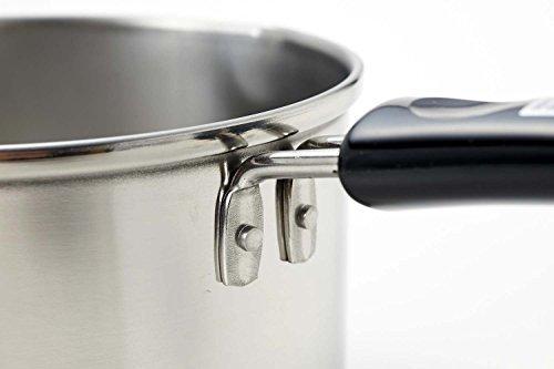 【即日発送】 : パール金属 ミルクパン 13cm IH対応 ステンレス デイズキッチン 日本製 H-5171_画像4