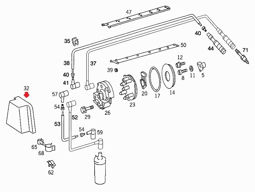 現品在庫1セット限り!ベンツ純正品&Bosch M103用 ディスビキャップ等3点セット(A1031580002、A1031580331、A1031580685)_画像10