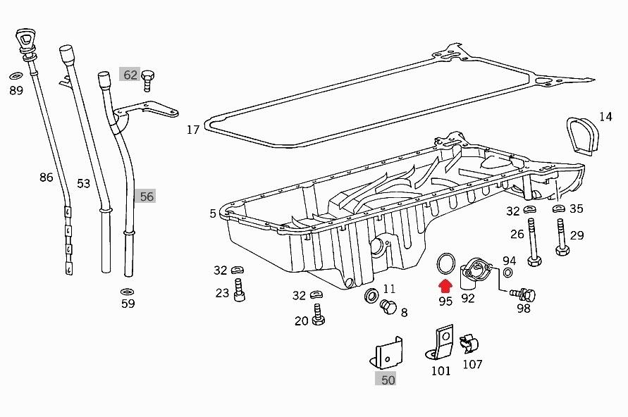 現品在庫限り!ベンツ純正品 M102/M111/M103/M104 エンジンオイルレベルセンサー用Oリング(A0159973948)_画像5