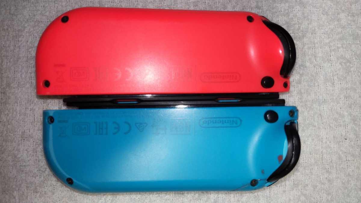 任天堂 ニンテンドースイッチ Nintendo Switch Joy-Con ネオンレッド ネオンブルー ストラップ 中古動作品 送料無料_画像8